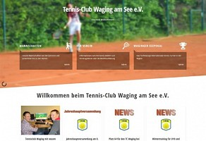 Internetauftritt: Tennisclub Waging am See