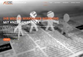 Internetauftritt: Anzeigen Zander