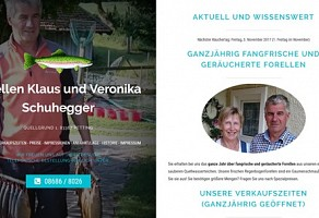 Internetauftritt: Forellen Klaus Schuhegger