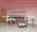 Internetauftritt: Ferienwohnung Haslacher Hof