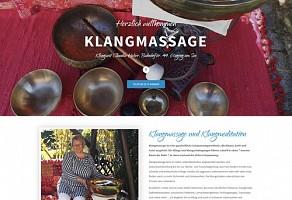 Internetauftritt: Klangmassage - Klangzeit Claudia Huber