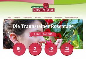 Internetauftritt: Traunsteiner Rosentage